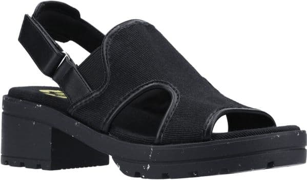 Rocket Dog Lilly Recycled Canvas PU Sandal Ladies Summer Black